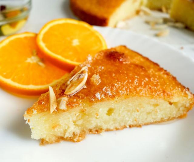 Bolo de laranja muito molhadinho