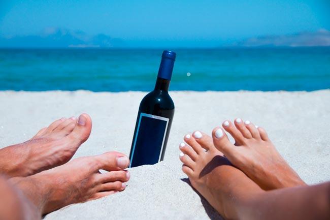 beber vinho tinto no verão