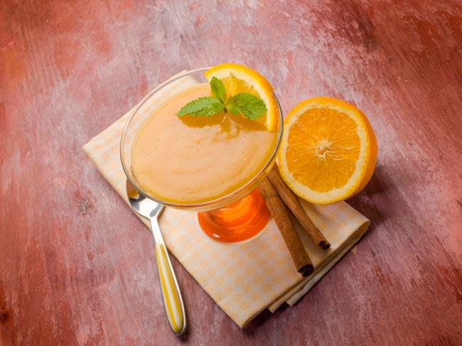 mousse de laranja cremosa