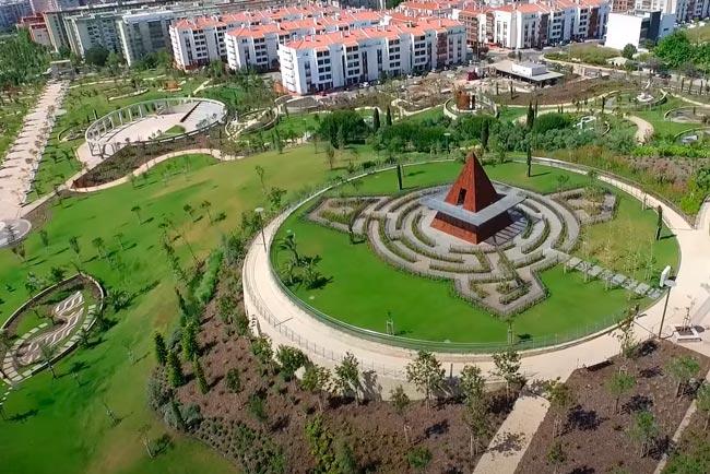 cidades com mais espaços verdes em Portugal