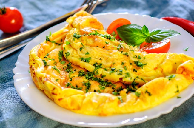 receita mágica para a omelete perfeita